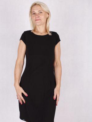 czarna sukienka rybka bez plecow z lancuchem